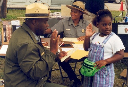 Junior Ranger Being Sworn In