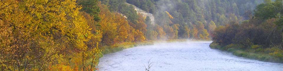 The Niobrara National Scenic river comes alive with color in the fall.