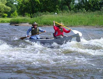 Navigating Fritz rapids in spring conditions(Class II)