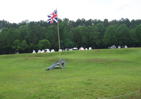 British flag and cannon in Star Fort 2006