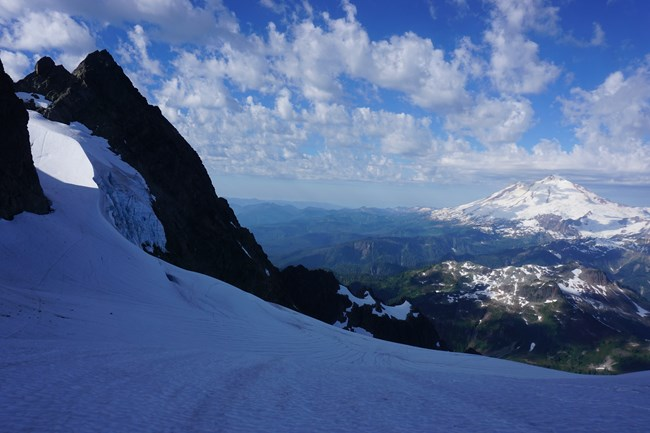 Hell's Highway from the Upper Curtis Glacier on Mount Shuksan