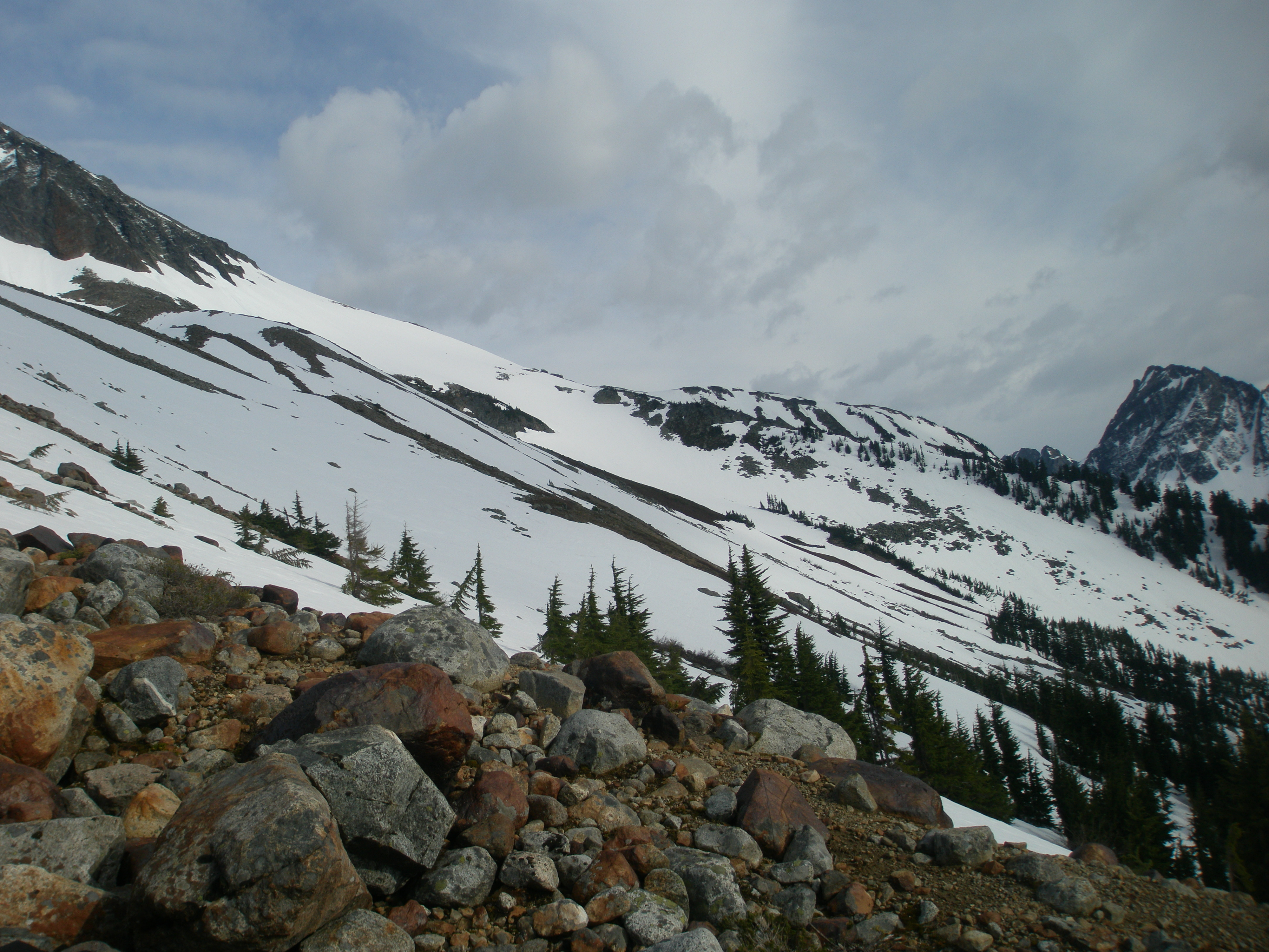 Sahale Arm and Cascade Pass from Boston Basin