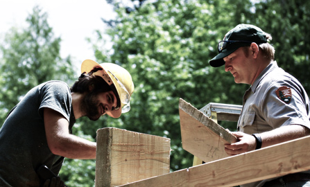 Dan McGuigan directs construction at Lower Goodell Creek Campground