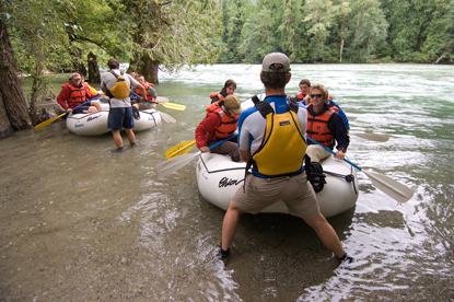 Rafting on the Skagit River
