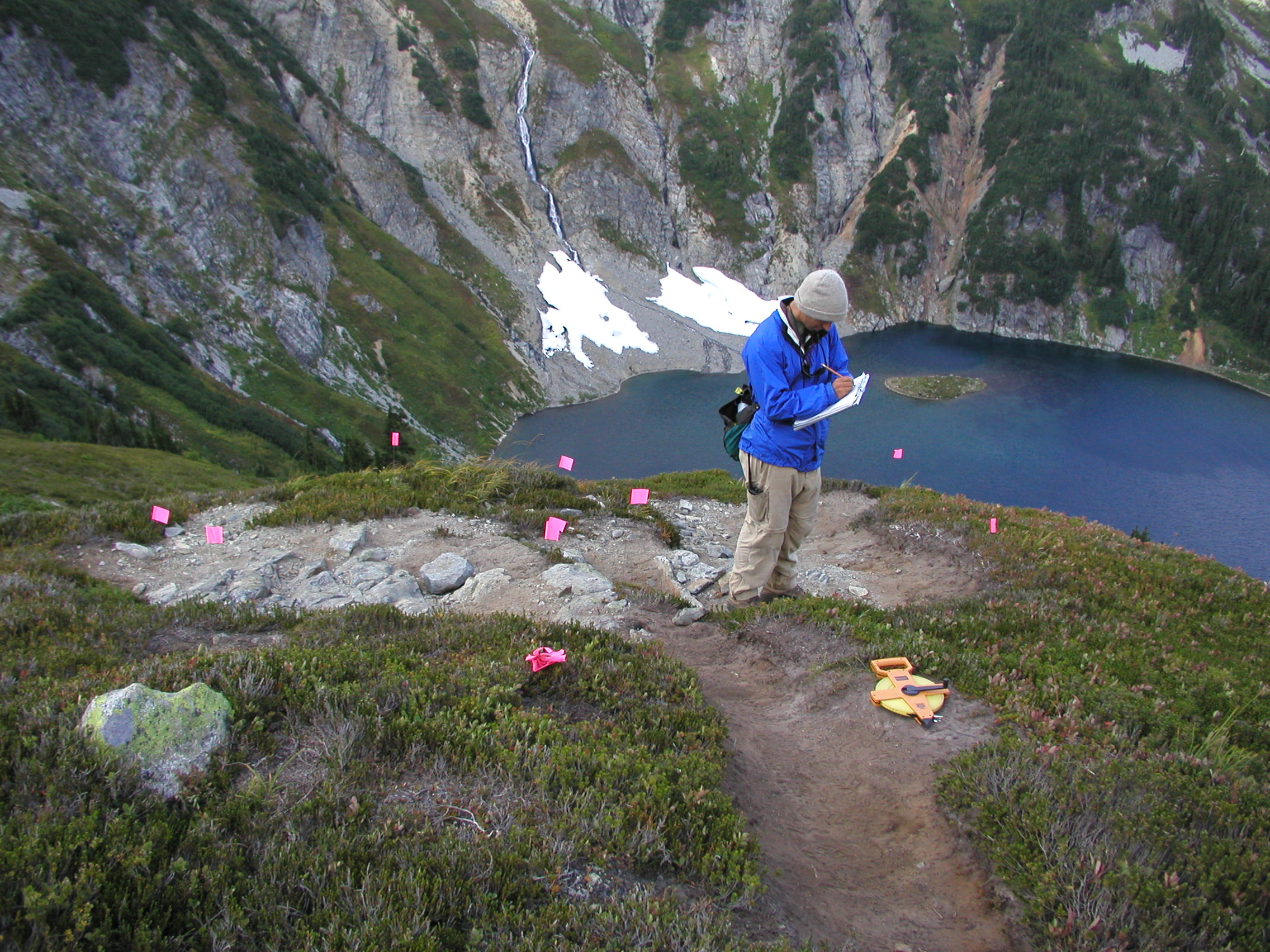 Mapping transects at doubtful lake