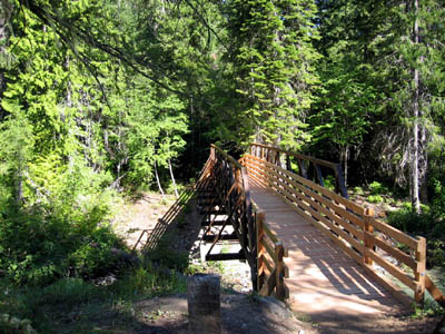 Completed Agnes Creek Bridge