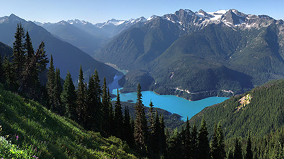 Diablo Lake from Sourdough Mountain in Ross Lake National Recreation Area