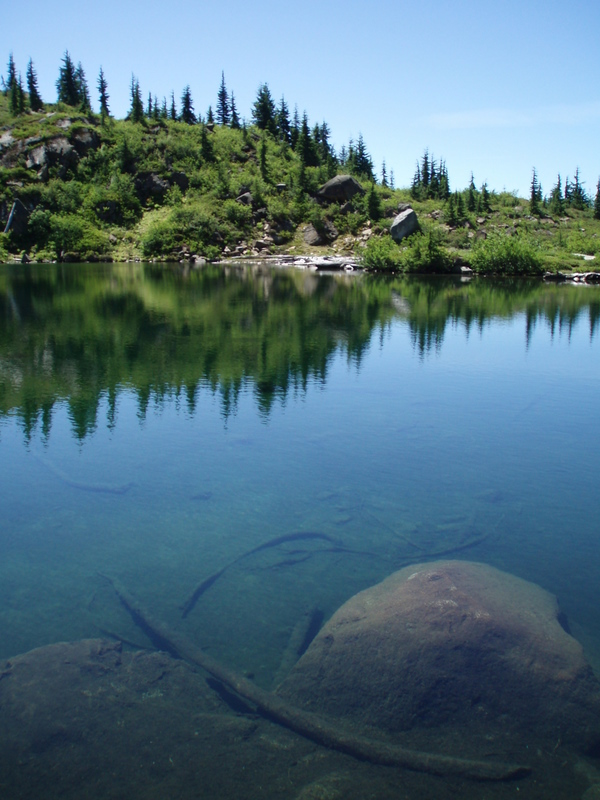 Clear waters of Monogram Lake