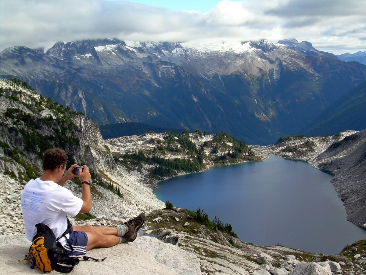 Hidden Lake with the upper Cascade River Valley and Boston Basin beyond. Bonnie Seifried