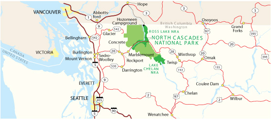 North America North Cascades National Park Washington USA - Washington on map of usa