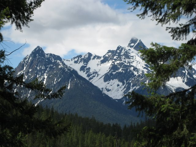 View from the Agnes Gorge Trail, including Agnes Peak. NPS Photo