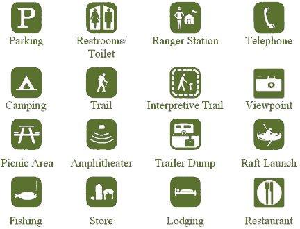 accessibility symbols north cascades national park us