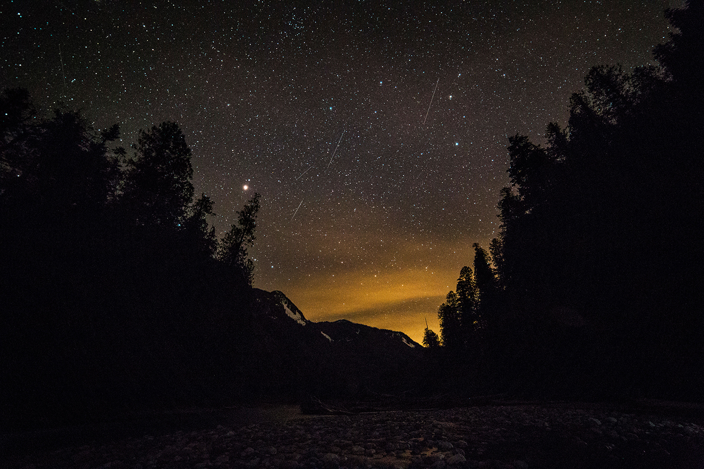 Falling Stars over the North Cascades - ©Andy Porter