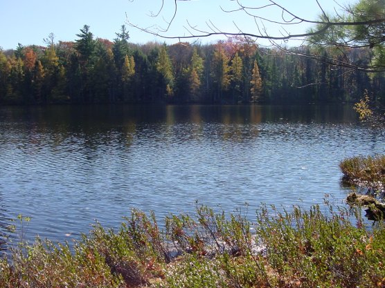 Lake on the North Country Trail in Wisconsin