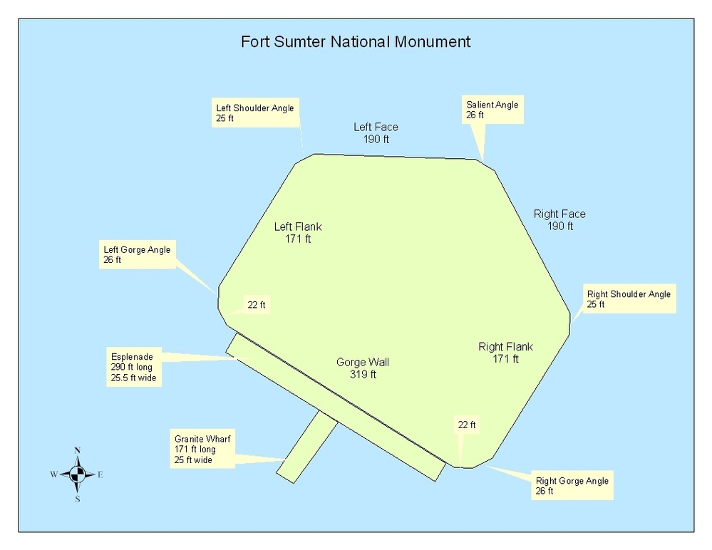 Fort Sumter On Us Map.Fort Sumter Maps Diagrams Gallery Fort Sumter National Monument