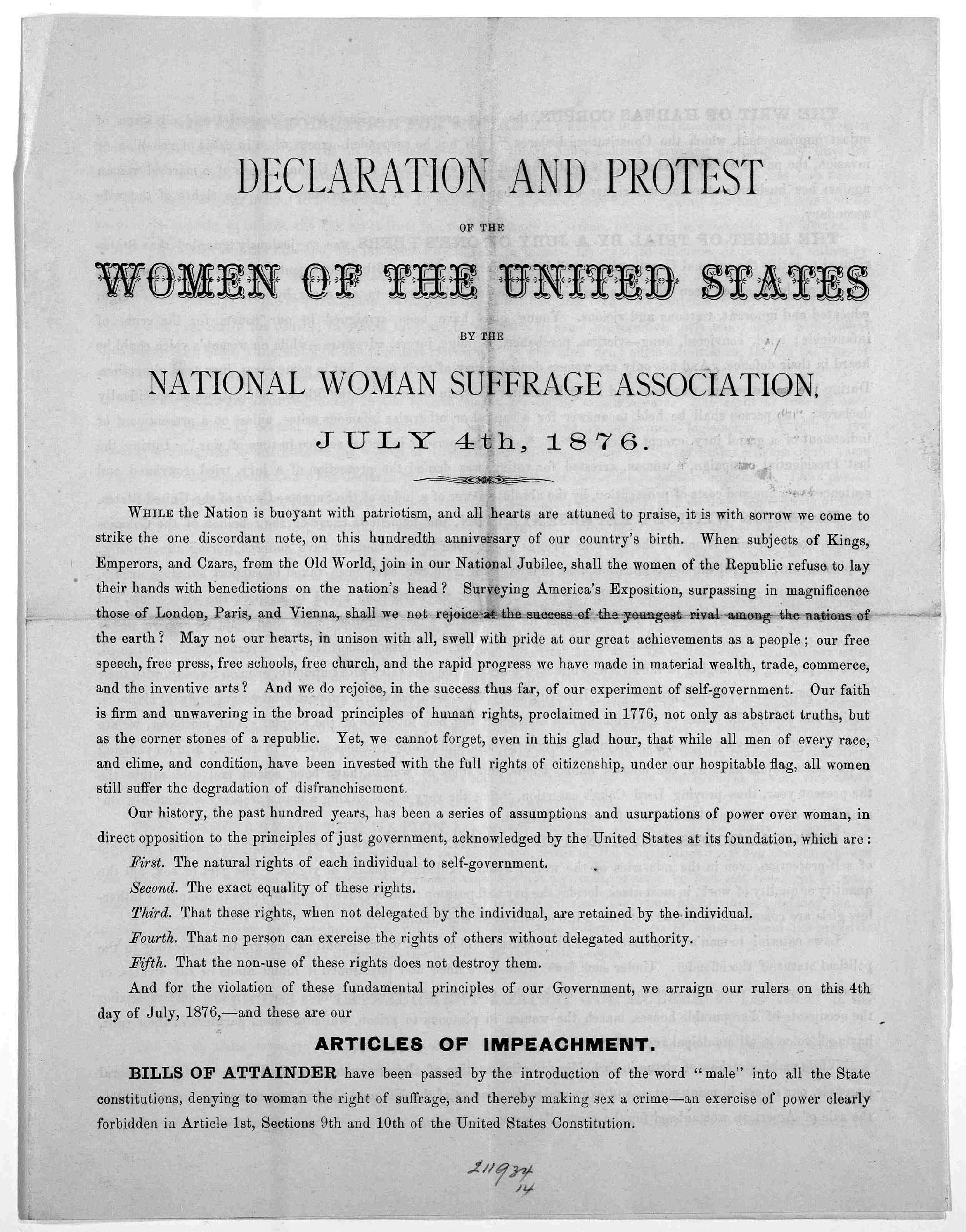 photo gallery u s national park service  declaration and protest of the