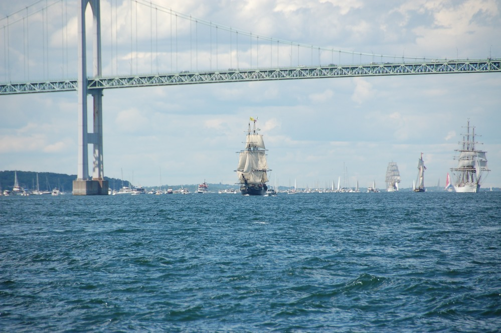 Image result for newport rhode island sailboat pell bridge