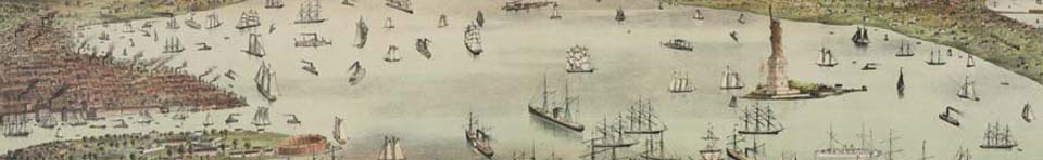 Historic Image of New York Harbor