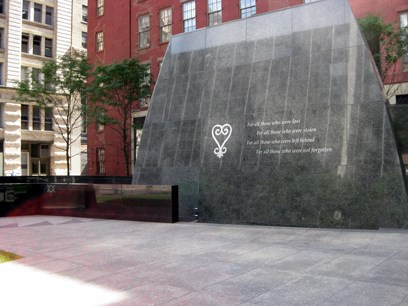 African Burial Ground National Monument in lower Manhattan