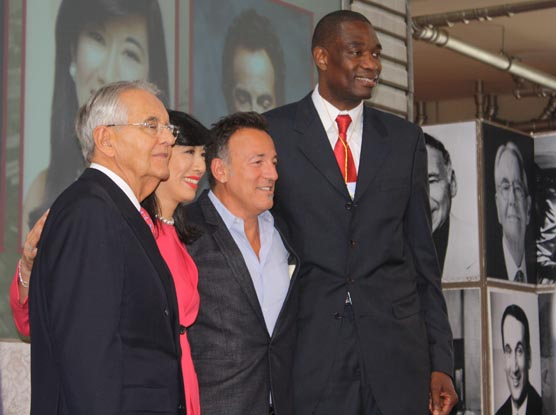 Peter G. Peterson, Andrea Jung, Bruce Springsteen and Dikembe Mutombo