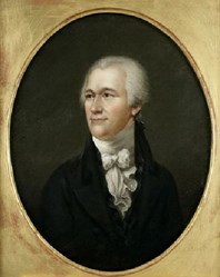 Painting of Alexander Hamilton at New-York Historical Society, artist unknown