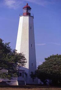 The lighthouse at Sandy Hook
