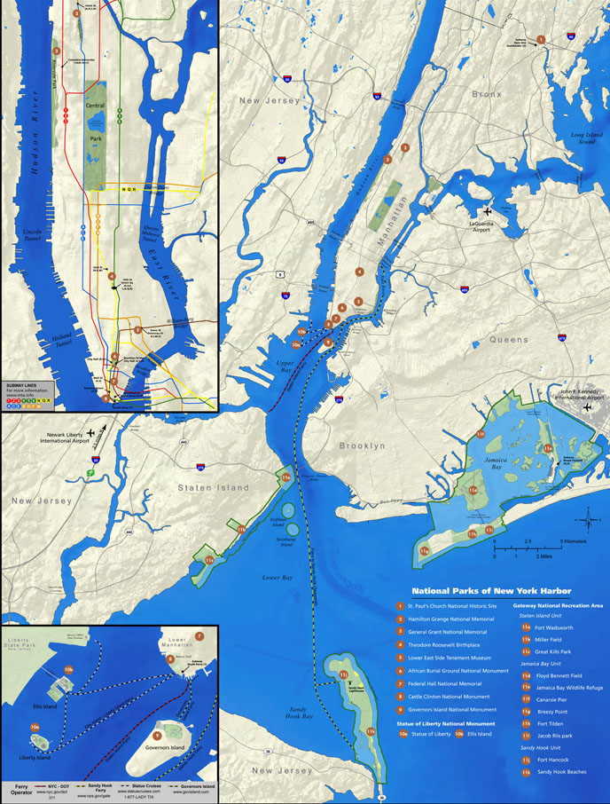 Maps National Parks Of New York Harbor US National Park Service - New York On Us Map