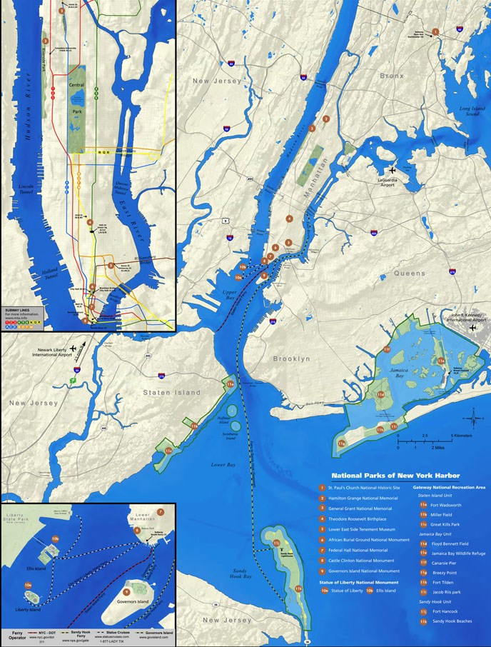 National Parks of New York Harbor overview map