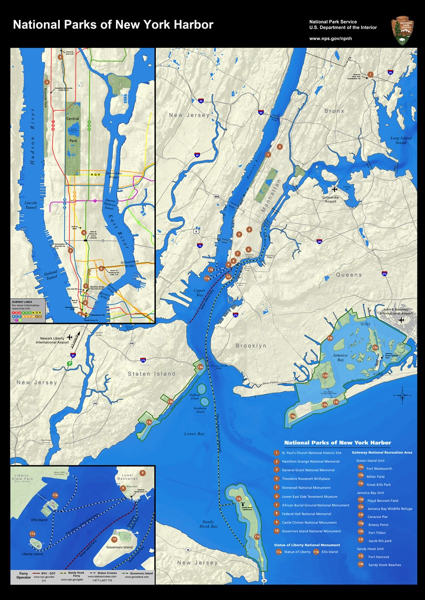 Maps National Parks Of New York Harbor U S National Park Service
