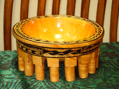 Ava bowl for Samoan ceremonial purposes.
