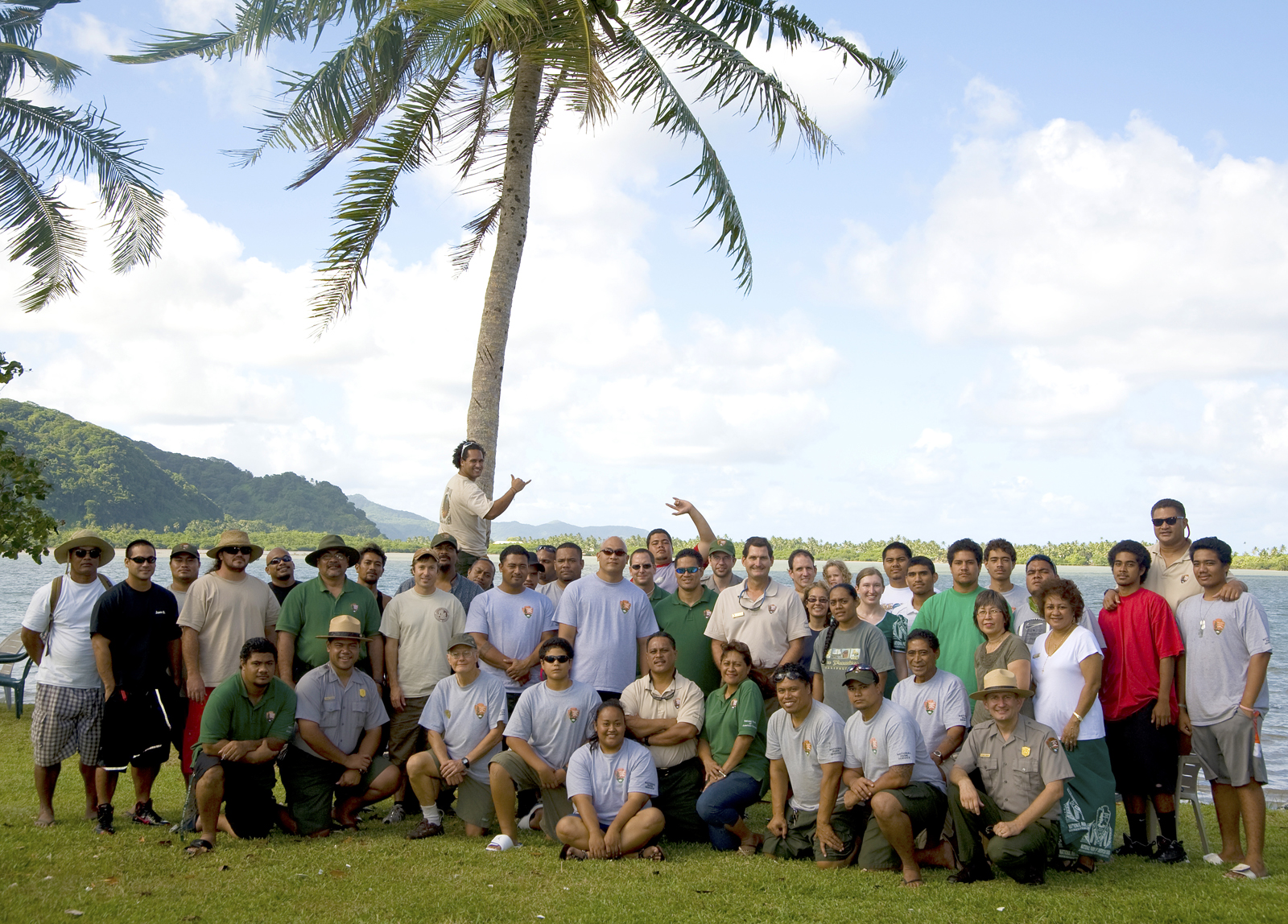 Photo of the National Park of American Samoa's staff.