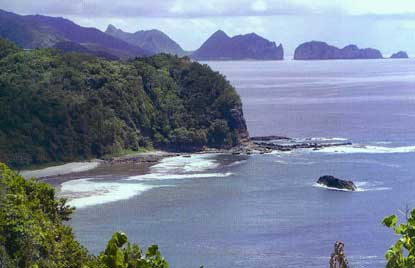 Tutuila coastline and the Pola Islands.