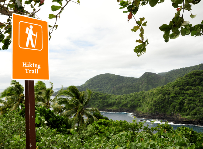 Hiking and Beachwalking National Park of American Samoa US