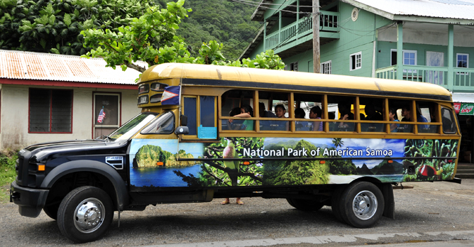 National park bus used for school field trips.