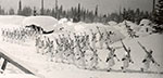 Men in the 10th Mountain Division train for battle at Mount Rainier National Park