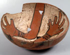 Photo of a San Clemente polychrome bowl found in New Mexico