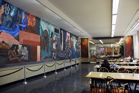 The epic of american civilization murals american latino for Dartmouth mural
