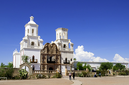 San xavier del bac mission american latino heritage a discover the baroque architecture of the san xavier del bac mission church was influenced by byzantine and sciox Choice Image