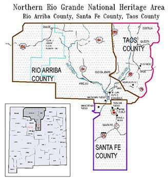 Rio Grande River New Mexico Map.Northern Rio Grande National Heritage Area American Latino