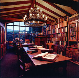 View Of The Library In Randall House Rare Books, Located In The Gonzalez  House