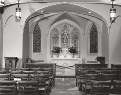 Historic Image C1948 Of The Interior Chancel Chapel Photograph From Herald Leader Newspaper Courtesy Kentucky Heritage Commission