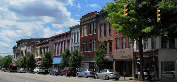 Main Street Commercial Buildings Madison Indiana A