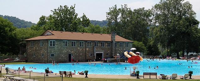 Crystal Beach Pool And Bath House Madison Indiana A