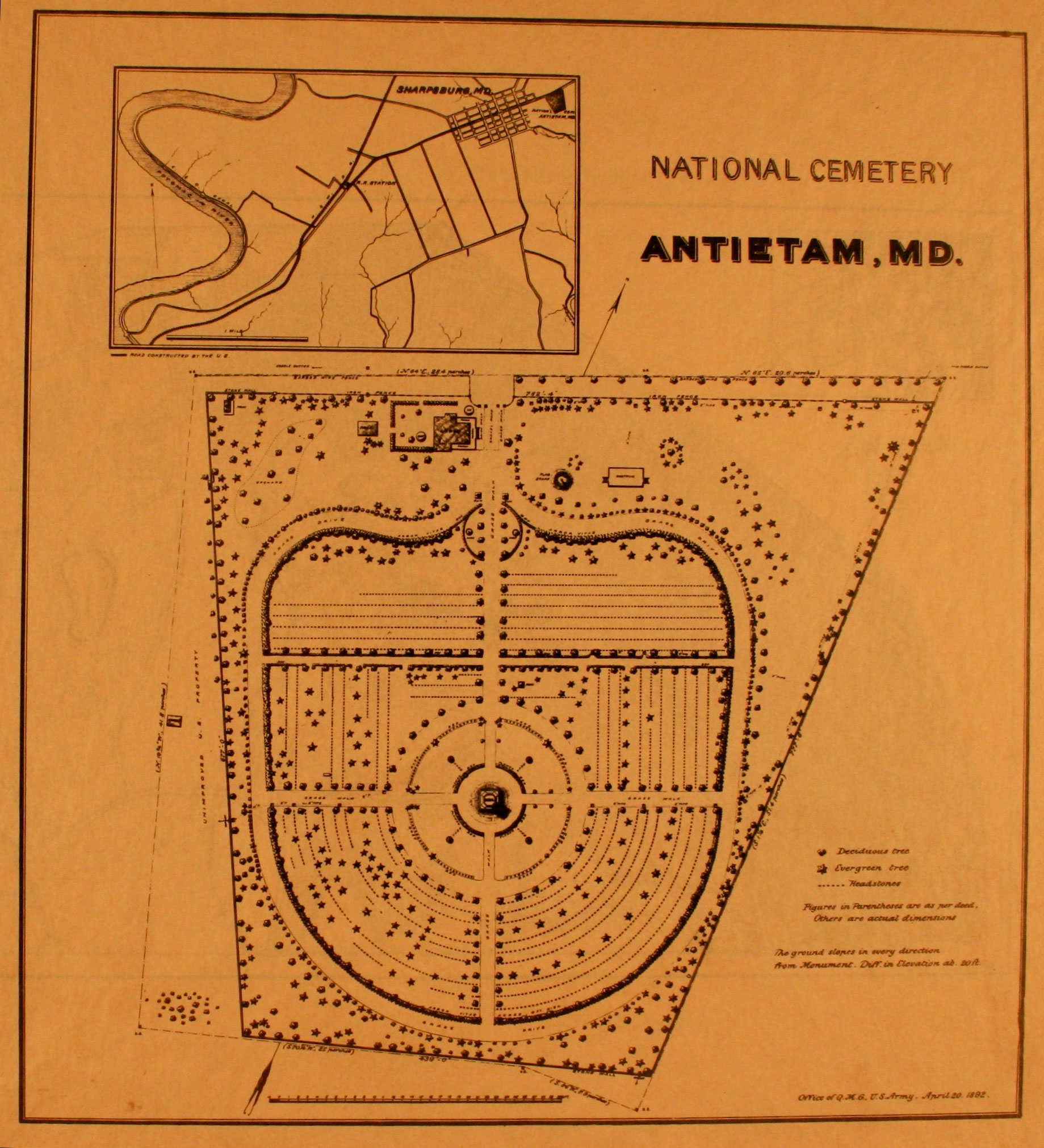 antietam national cemetery map
