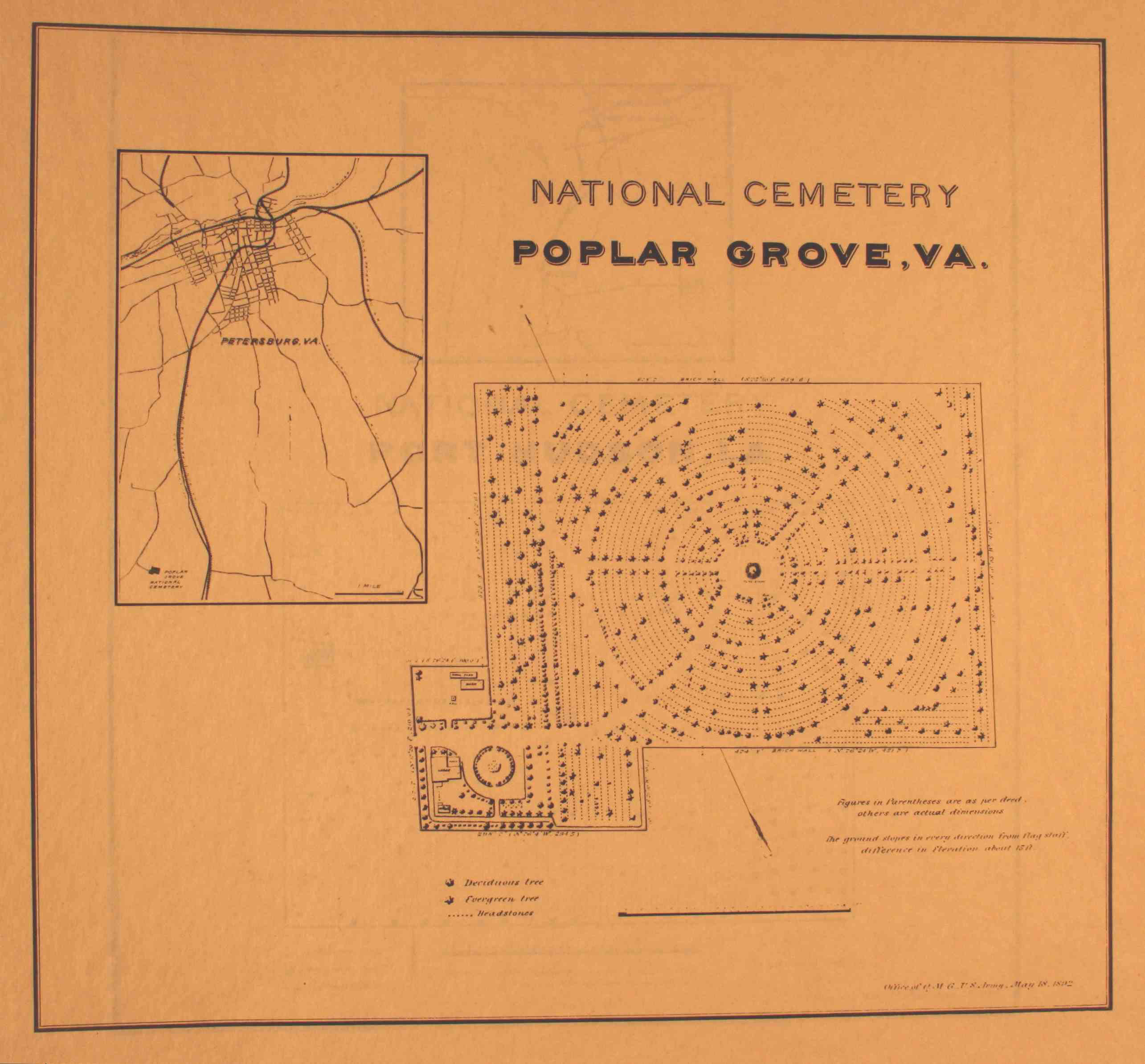1893 site plan of poplar grove national cemetery courtesy of the national archives and records administration click on image to enlarge