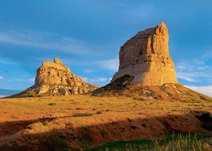 Courthouse Rock and Jail Rocks