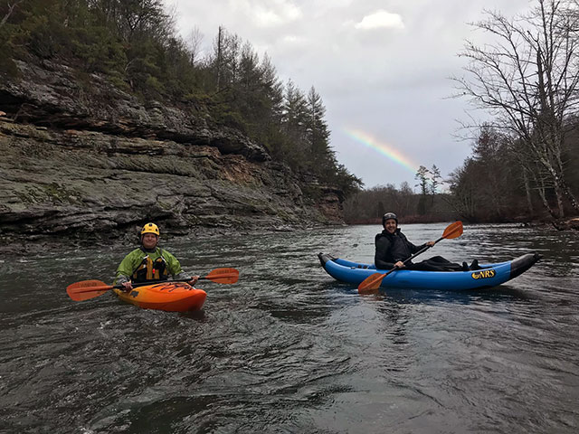 park rangers kayaking