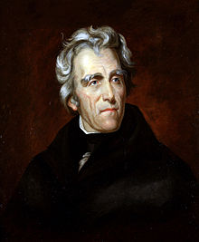 Andrew Jackson with white hair