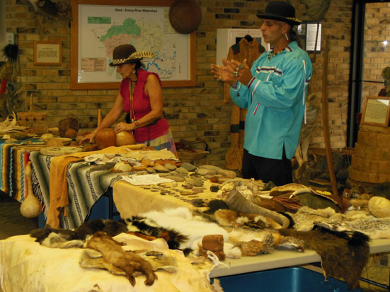 native american wayoflife talk and demonstration at obed