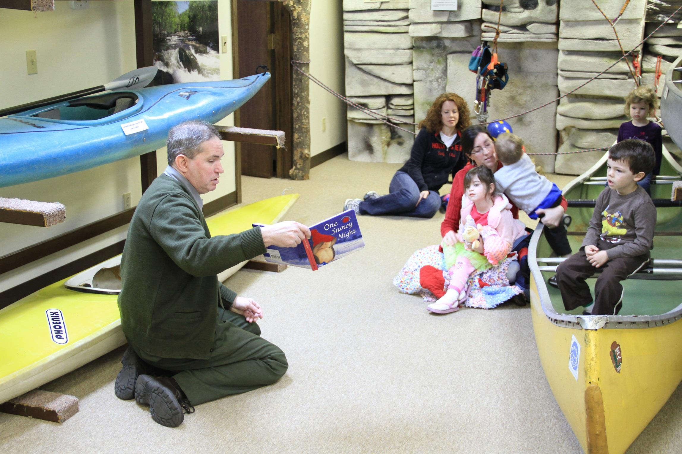 Ranger Joe telling story to kids